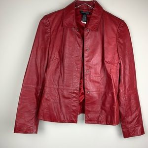 Kenneth Cole Red Leather Jacket